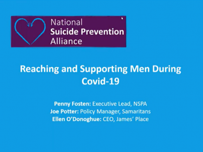 National Suicide Prevention Alliance Webinar poster